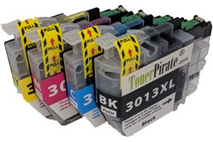 Brother LC3013 XL Black & Color Compatible Ink Cartridge 4-Pack Set