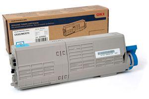 Okidata 46490503 Cyan OEM Genuine Toner Cartridge for C532DN MC573DN