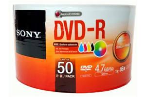 Sony 50DMR47FB 4.7GB White Inkjet Printable DVD-R 50PK Spindle