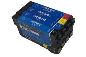 Epson 802 Black & 802XL 3-Color Combo Compatible Ink Cartridge Set