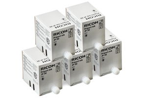 Ricoh JP-30 817113 5-Pack Black OEM Genuine Ink Cartridge for JP1235