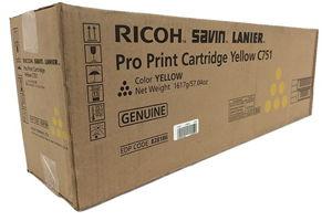 Ricoh 828186 Yellow Original Toner Cartridge for Pro C651EX C751