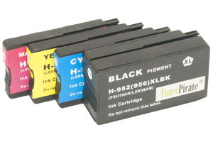 HP 952XL Black & Color 4-Pk Hi-Yield Compatible Ink Cartridges