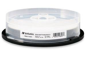 Verbatim 98897 BD-R XL 4X 100GB White Inkjet Printable 10PK Spindle