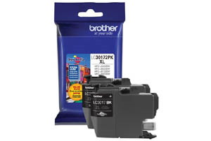 Brother LC30172PK Black 2 PK OEM Genuine High Yield Ink MFC-J5330