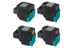 Lexmark Black & Color Compatible Toner Cartridge Set for C540 C544
