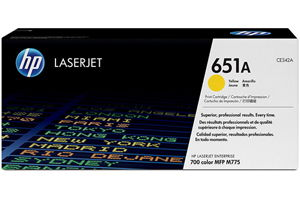 HP CE342A 651A Yellow OEM Genuine Toner Cartridge for M775DN M775F