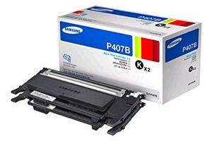 Samsung CLT-P407B 2PK Black OEM Genuine Toner Cartridges for CLX-3180