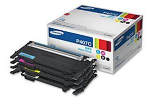 Samsung CLT-P407C 4PK B/C/M/Y OEM Genuine Toner Cartridge for CLX-3180