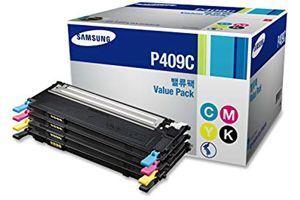 Samsung CLT-P409C 4PK B/C/M/Y OEM Genuine Toner Cartridge for CLX-3170