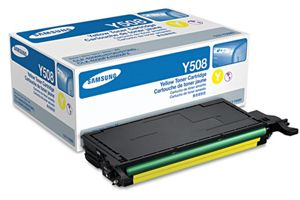 Samsung CLT-Y508S Yellow OEM Genuine Toner Cartridges for CLX-6220FX
