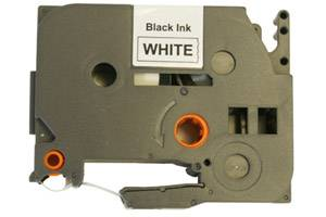 Brother TZE-211 Compatible 1/4 inch Black on White Tape (6mm x 8m)