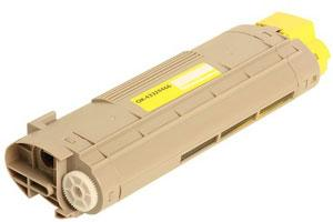Okidata 43324466 Yellow Toner Cartridge for C6000N C6000DN C6050N C6050DN Printer