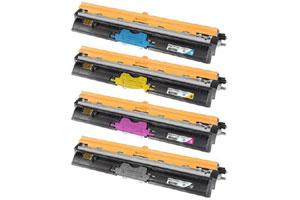 Okidata Black & Color Type D1 Toner Cartridge Combo Set for C110 C130 Color Printer