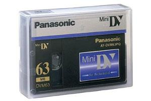 Panasonic AY-DVM63PQ Professional Quality 63min Mini DV Digital Video Cassette DVC Tape