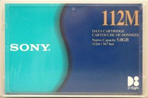 Sony QG112M 8mm D8 112m 5/10GB Data Tape Cartridge
