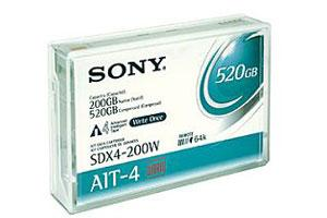Sony SDX4-200C AIT-4 200GB/520GB 246M MIC Data Tape Cartridge