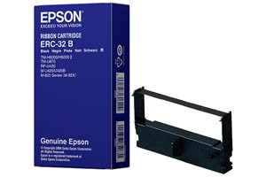 Epson ERC-32B [OEM] Genuine Black Fabric Ribbon Cartridge for M-820