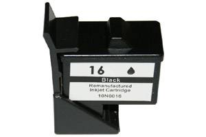 Lexmark 10N0016 (#16) Remanufactured Hi-Yield Black Ink Cartridge