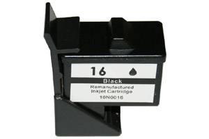 Lexmark 10N0016 (#16) Remanufactured Hi-Yield Black Ink Cartridge