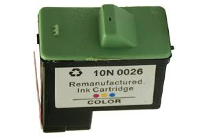 Lexmark 10N0026 (#26) Remanufactured Hi-Yield Color Ink Cartridge