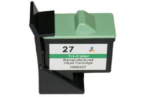 Lexmark 10N0227 (#27) Remanufactured Color Ink Cartridge for Z23 Z35 Z645 X1110 JetPrinter