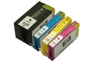 HP 920XL Black & Color High Yield Compatible Ink Cartridges 4-Pk Set