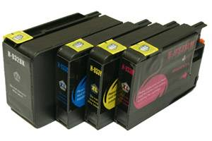 HP 932XL Black & 933XL Color Compatible Hi-Yield Ink Cartridge 4-Pack