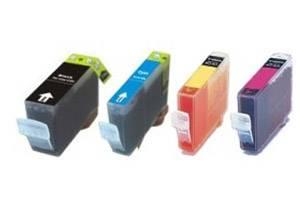 Canon BCI-3E Black & 3-Colors Combo Compatible Ink Cartridge
