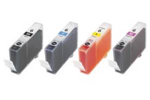 Canon BCI-6 Black & 3-Colors Combo Compatible Ink Tanks