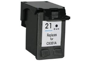HP C9351AN (#21) Black Remanufactured Ink Cartridge for Deskjet 3910 3940 Fax 1250
