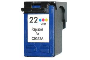 HP C9352AN (#22) Tri-Color Remanufactured Ink Cartridge