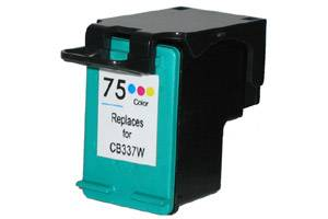 HP CB337WN (#75) Tri-Color Remanufactured Ink Cartridge