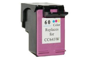 HP CC643WN (#60) Tri-Color Remanufactured Ink Cartridge