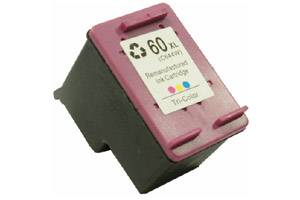 HP CC644WN (#60XL) Tri-Color Hi-Yield Remanufactured Ink Cartridge