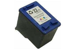 HP CH570AN (#22XL) Tri-Color Hi-Yield Remanufactured Ink Cartridge