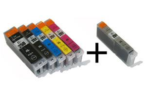 Canon PGI-250XL/CLI-251XL 6-Pack Hi-Yield Compatible Ink Cartridge Set