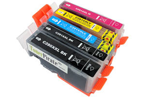 Canon CLI-281XXL Black & Color 5 Pack Compatible Ink Cartridge