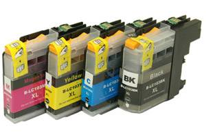 Brother LC103 Black & Color Compatible Ink Cartridge 4 Pack Set