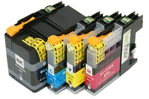 Brother LC10E Black & Color Compatible Ink Cartridge Set for MFC-J6925