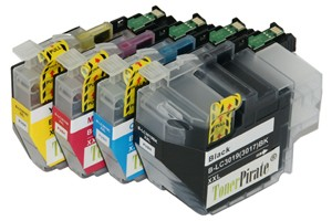 Brother LC3019 Black & Color Compatible Ink Cartridge 4 Pack Set
