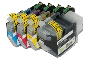 Brother LC3029 Black & Color Compatible Ink Cartridge 4 Pack Set