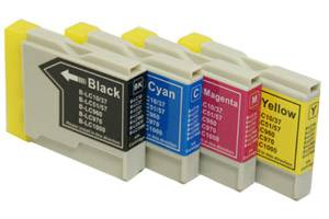 Brother LC51 Compatible Black and Color Ink Set for MFC-240 3360 5460