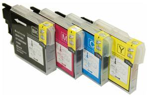 Brother LC61 Compatible Black & Color Ink Set for DCP-165 MFC-290 5890