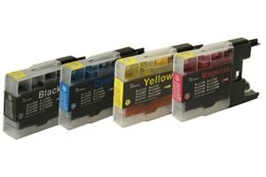Brother LC75 Compatible Black & Color Ink Set for MFC-J280 J425 J6510
