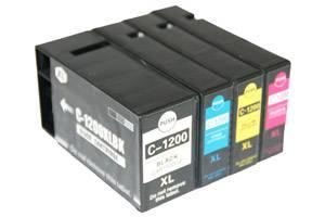 Canon PGI-1200XL Compatible BK/C/Y/M High Yield Ink Cartridge Set
