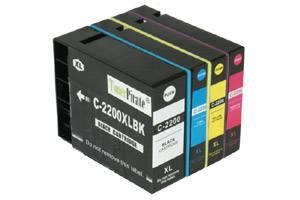 Canon PGI-2200XL Compatible BK/C/Y/M High Yield Ink Cartridge Set