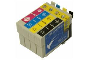 Epson T069 #69 Black & 3-Color Combo Set Remanufactured Ink Cartridges