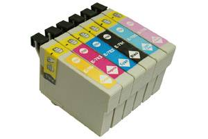 Epson T078 #78 Black & 5-Color Combo Remanufactured Ink