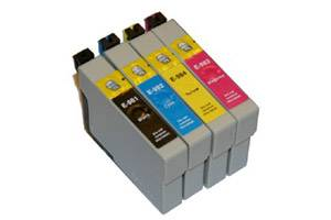 Epson T098 #98 Black and 3-Color Set Remanufactured Ink